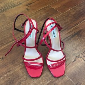 Strappy Red Steve Madden Heeled Sandals